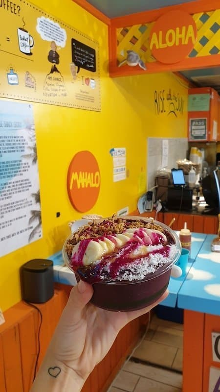 acai bowl, oahu, hawaii
