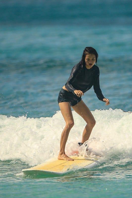 surfing in oahu, hawaii