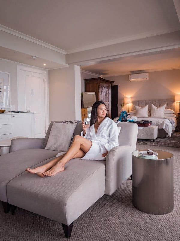 room girl bathrobe, Cape View Clifton, Cape Town, South Africa - Hotel Review